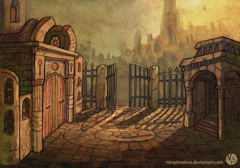 Graveyard entrance by Nimphradora