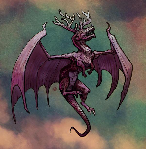 Black dragon sketch by Nimphradora