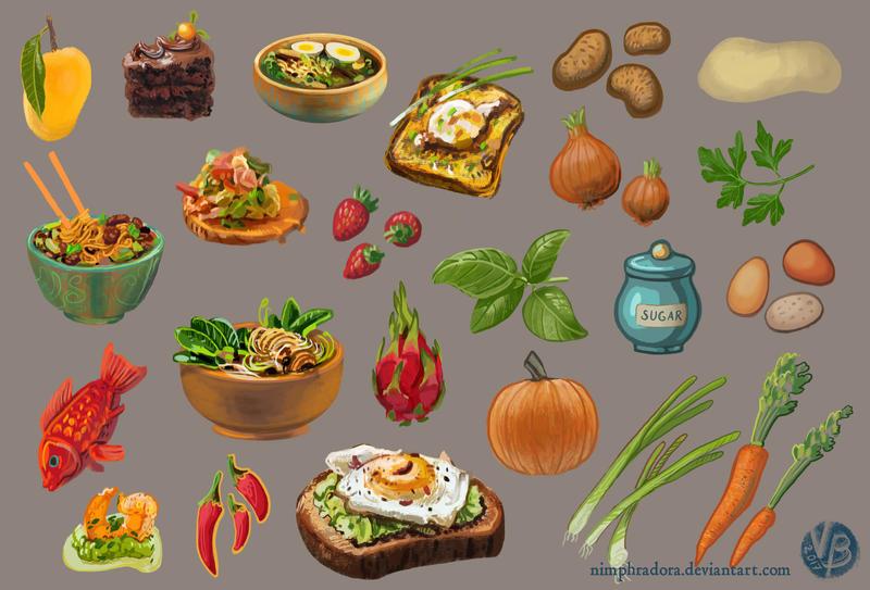 Food items by Nimphradora