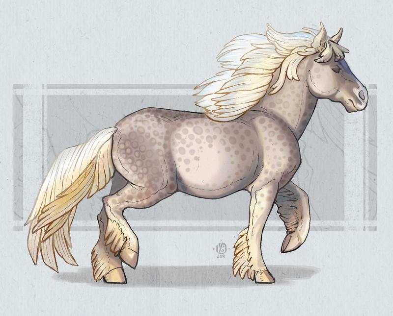 Horse study by Nimphradora