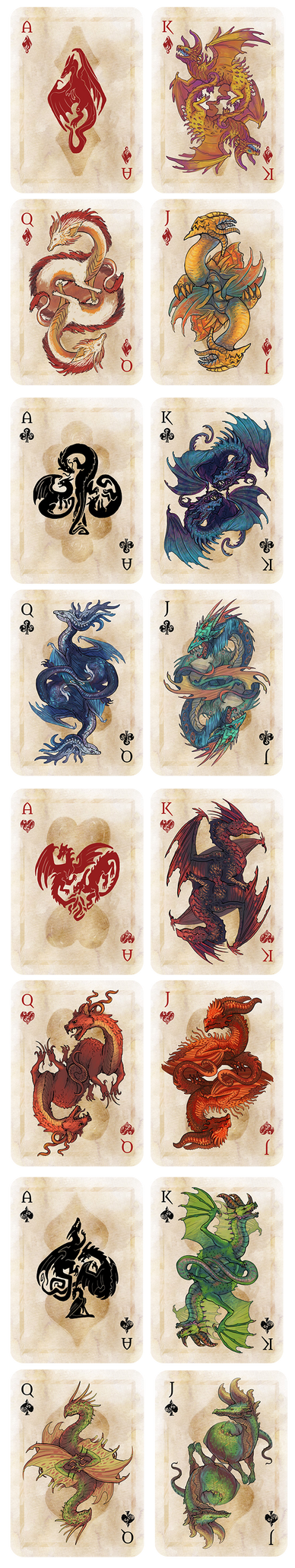 Draconic playing cards Kickstarter by Nimphradora