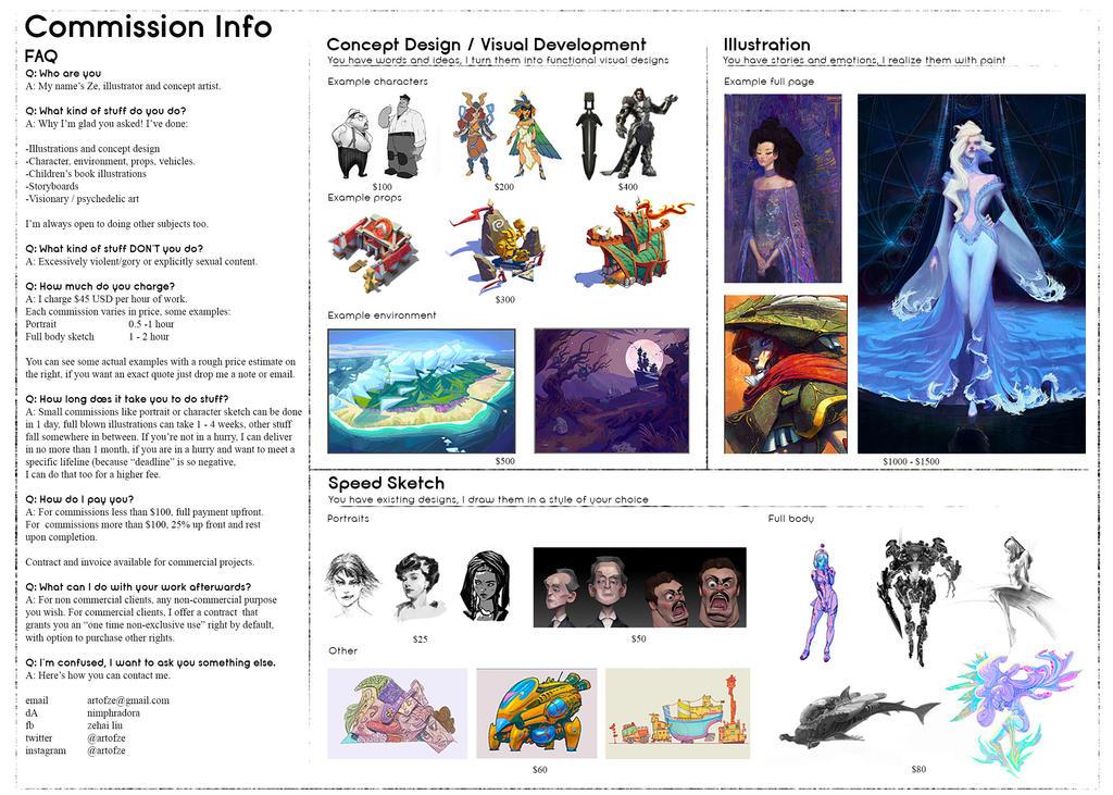 Commission Info For Zeddartha   2017 By Silent Rag by Nimphradora