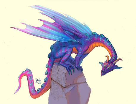 Dragon On A Rock by Nimphradora