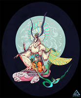 Dhamma Guardian Moth - Character Design Challenge by Nimphradora