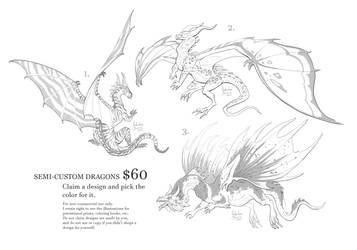Dragon semi-customs (open) by Nimphradora