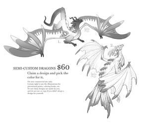 Dragon Semi-Customs II (open) by Nimphradora