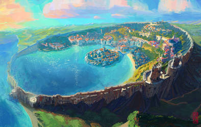 Sao Lous - Environment Design for Xor'Veil by Nimphradora