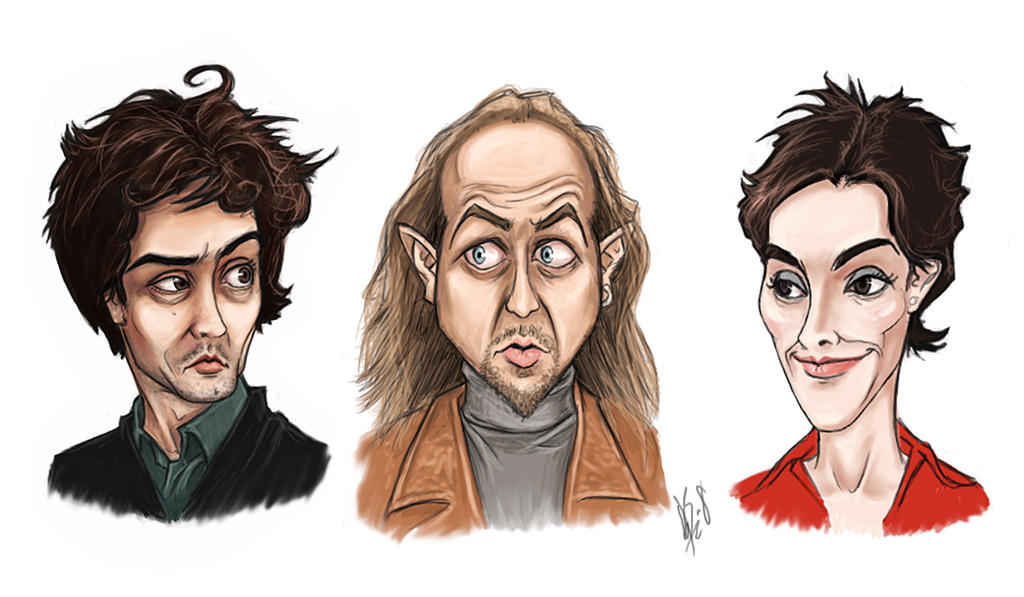 Black Books Characters Colour by Elusive-Angel