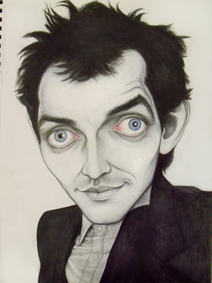 Caricature: Rik Mayall -WIP- by Elusive-Angel