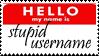 Stupid username stamp by MrsZeldaLink