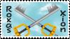 Roxas x Xion stamp by MrsZeldaLink