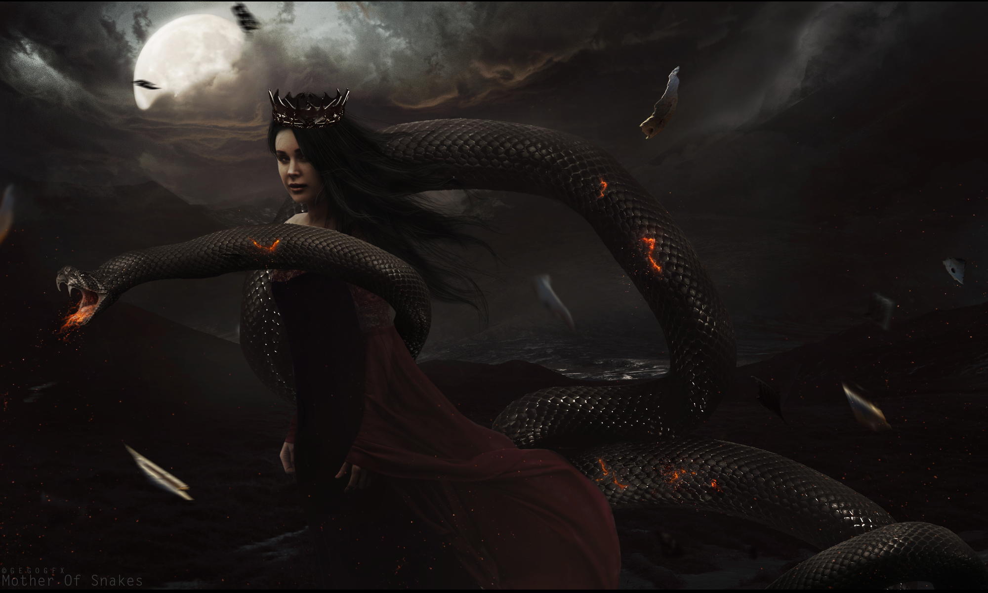 Mother of Snakes by Gedogfx