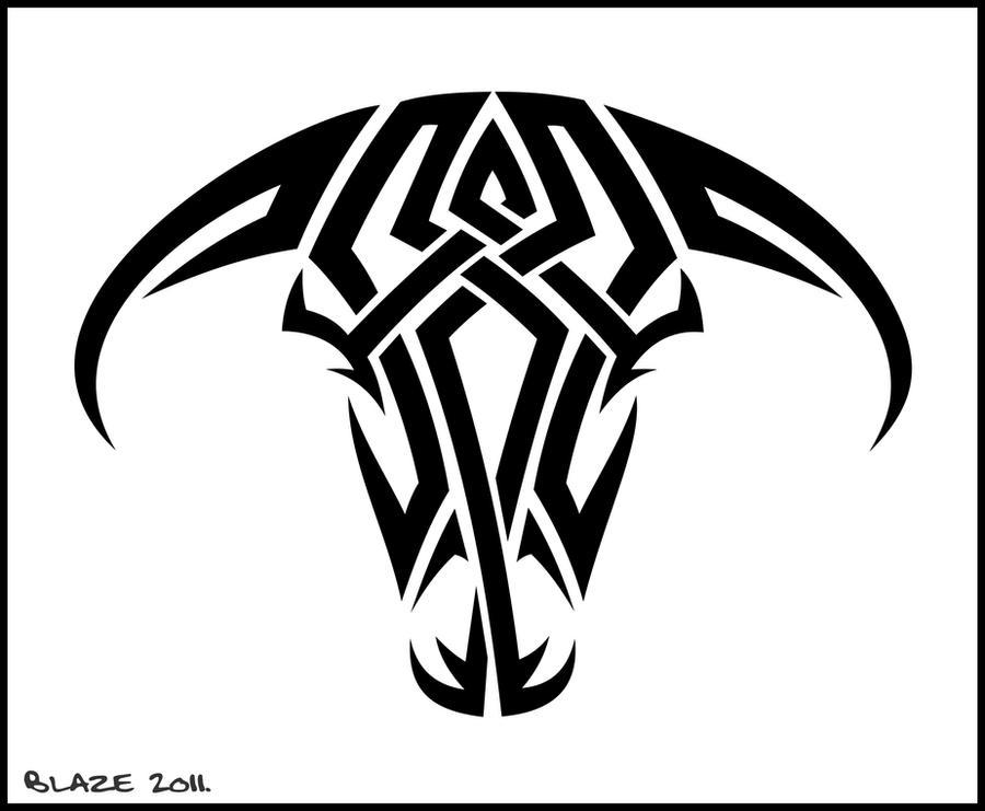 ... tribal bull tattoos 400 x 154 516 kb png tribal bull tattoos 480 x