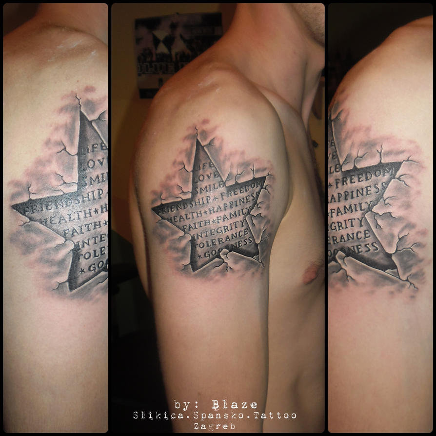 3d star tattoo designs the image kid for 3d star net