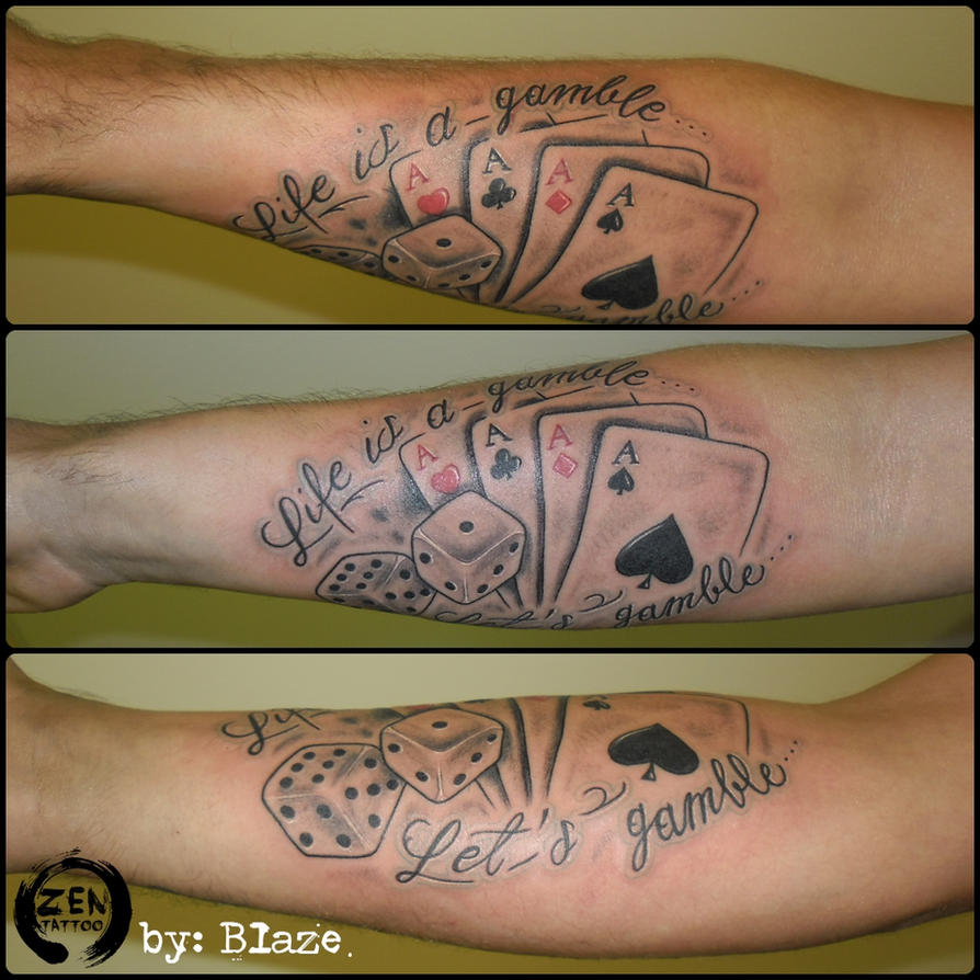 Life is a gamble tattoo how many barrels in russian roulette