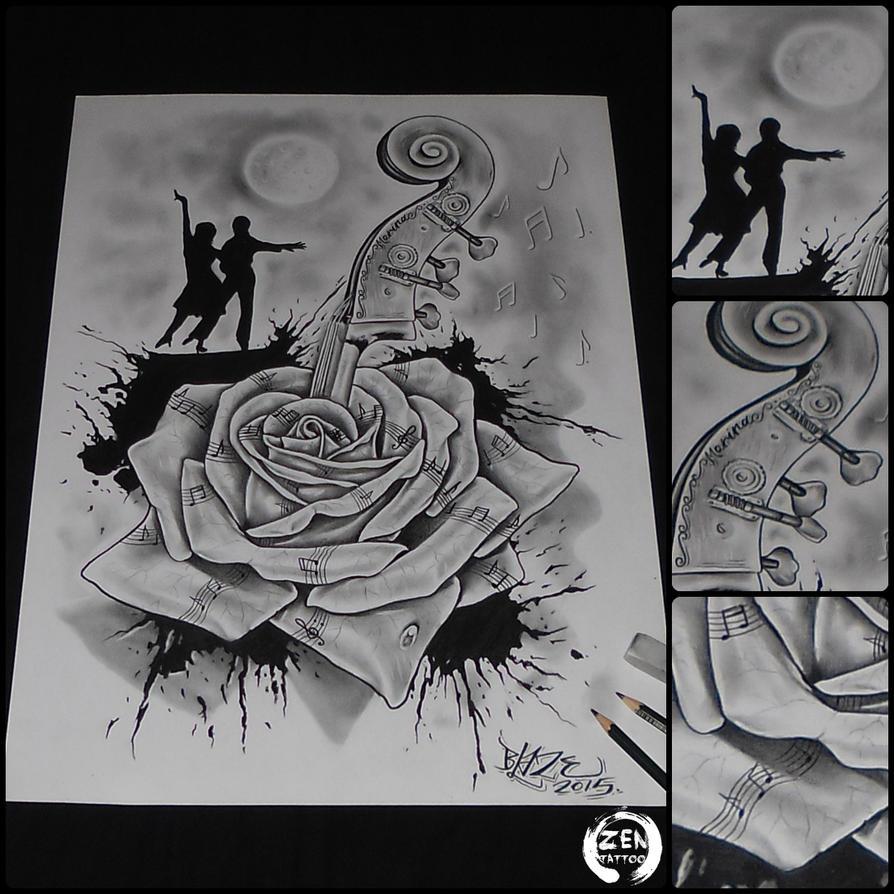 Music rose and dance pencil drawing by Blaze by bLazeovsKy ...