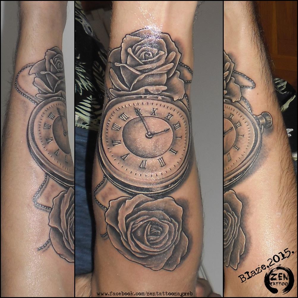 Clock And Roses Tattoo: Roses Clock Tattoo By BLazeovsKy On DeviantArt