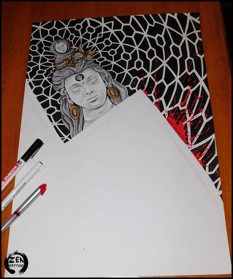 Shiva drawing part 1 of colaboration by bLazeovsKy on DeviantArt