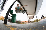 Ollie over trash can