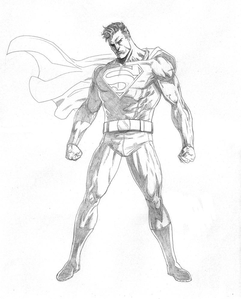 superman sketch by mikemaluk on deviantart