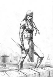 Elektra sketch by mikemaluk