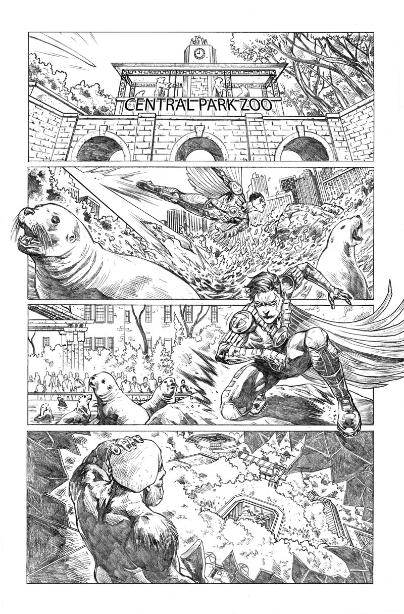 Teen Titans #21 Page 3 by mikemaluk