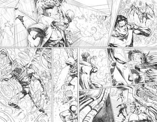 Nightwing#24 Page 8-9 by mikemaluk