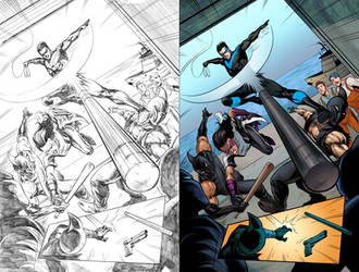 Nightwing #31 Page 8 by mikemaluk