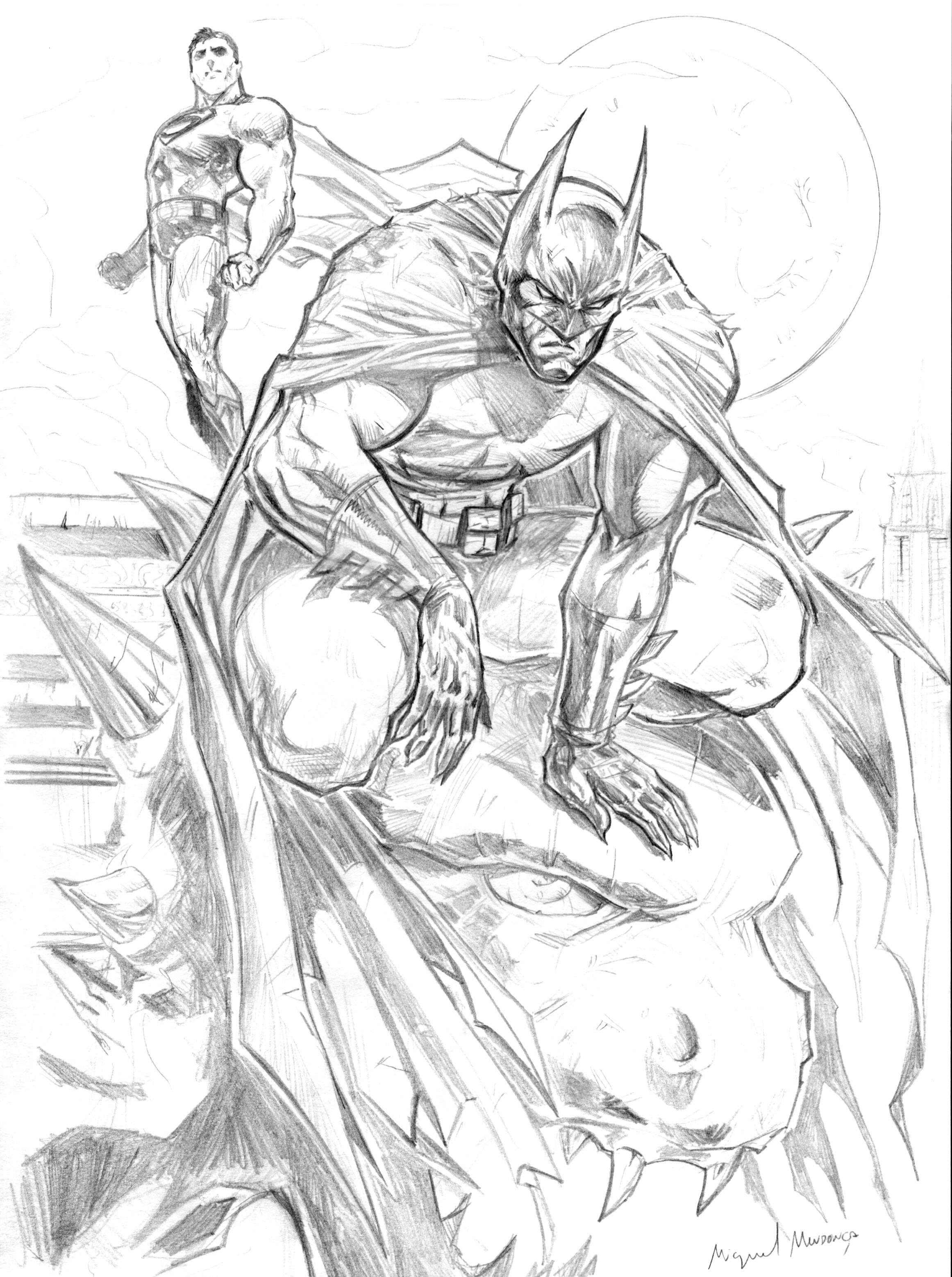 Batman Coloring Pages Online And Superman By Mikemaluk On Deviantart