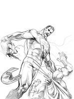 superman vs magneto by mikemaluk