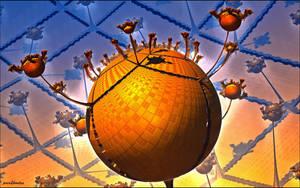 Flying pumpkins by poca2hontas