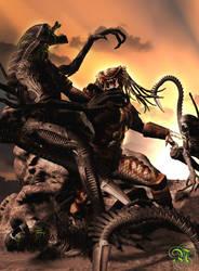 Aliens Vs. Predator by Dark-Elf-Designs