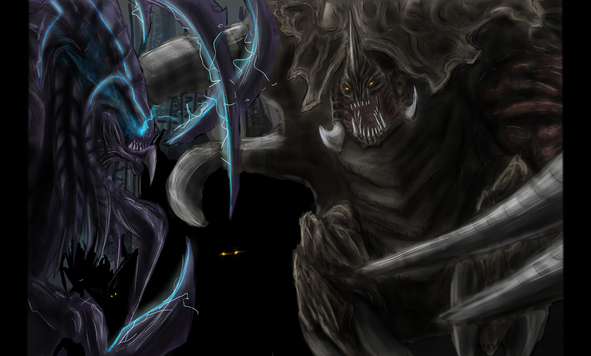 Xenomorph Vs Zerg Request - Hybri...