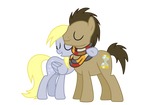 Derpy and Hooves hugs