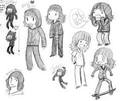 Mitchel Musso doodles by Hi3ei