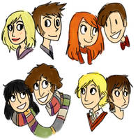 The Doctor and his companions by Hi3ei