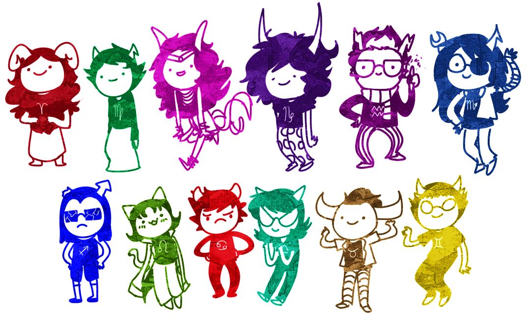 Draw all the trolls by Hi3ei