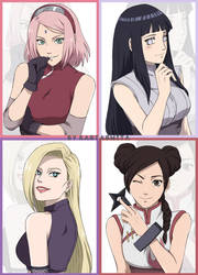 The ladies of Konoha by kartasmita
