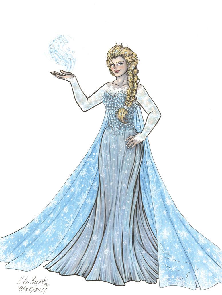Elsa Doodle by HLMartin