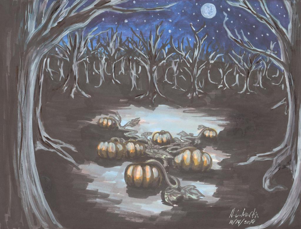 Haunted Pumpkin Patch by HLMartin