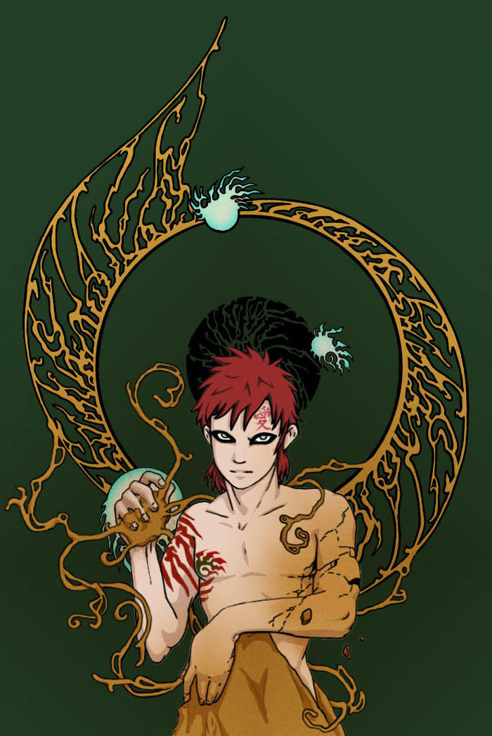 Gaara of the Desert tattoo by ~eloquence-of-line on deviantART
