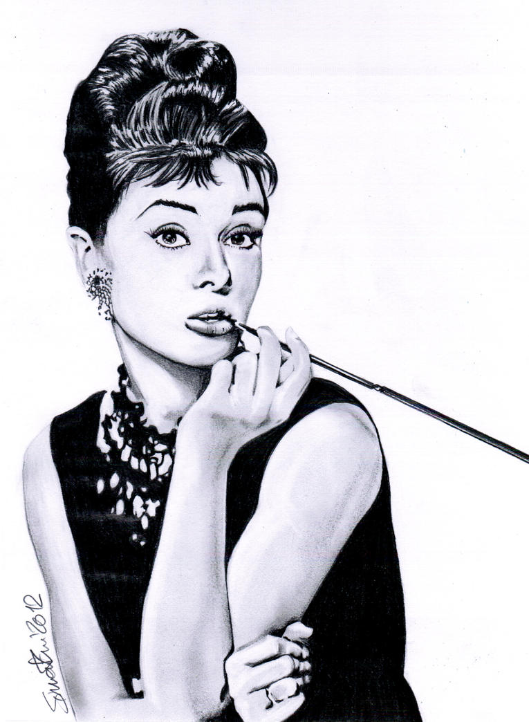 Audrey Hepburn - Breakfast At Tiffany's by SoulShapedFace