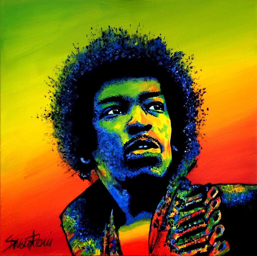 Jimi Hendrix by SimoneFiani