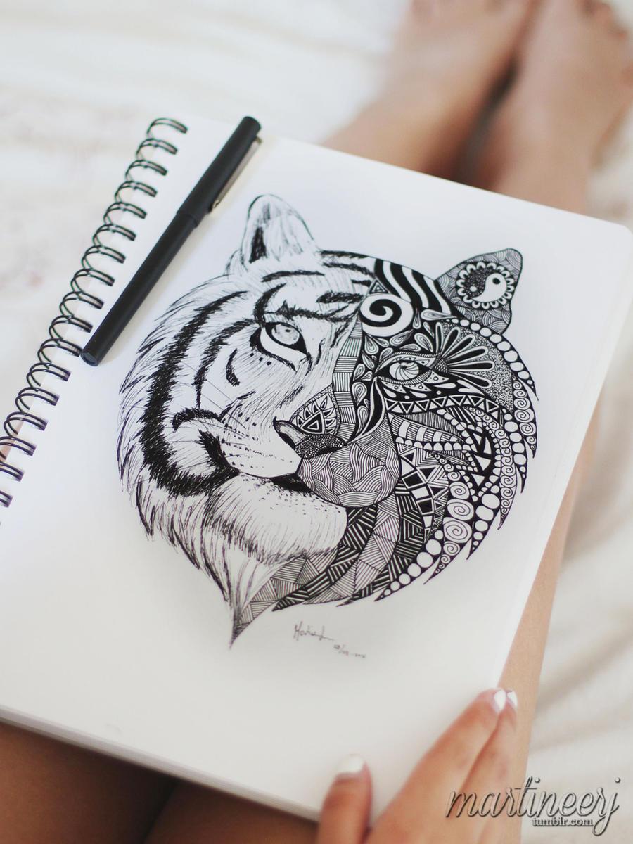 Tiger Mandala by martiinej on DeviantArt