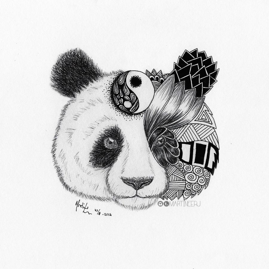 Panda Drawing By Martiinej On Deviantart