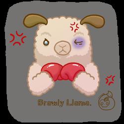 Brawly Llama tee design by TreeTopFoxx