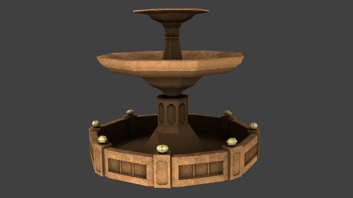 Sword Art Online Water Fountain 3d Model By
