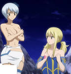 Yukino covers breasts - Topless edit
