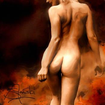 Walking thru Fire by scribbler