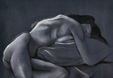 Reclining female nude 2 by scribbler